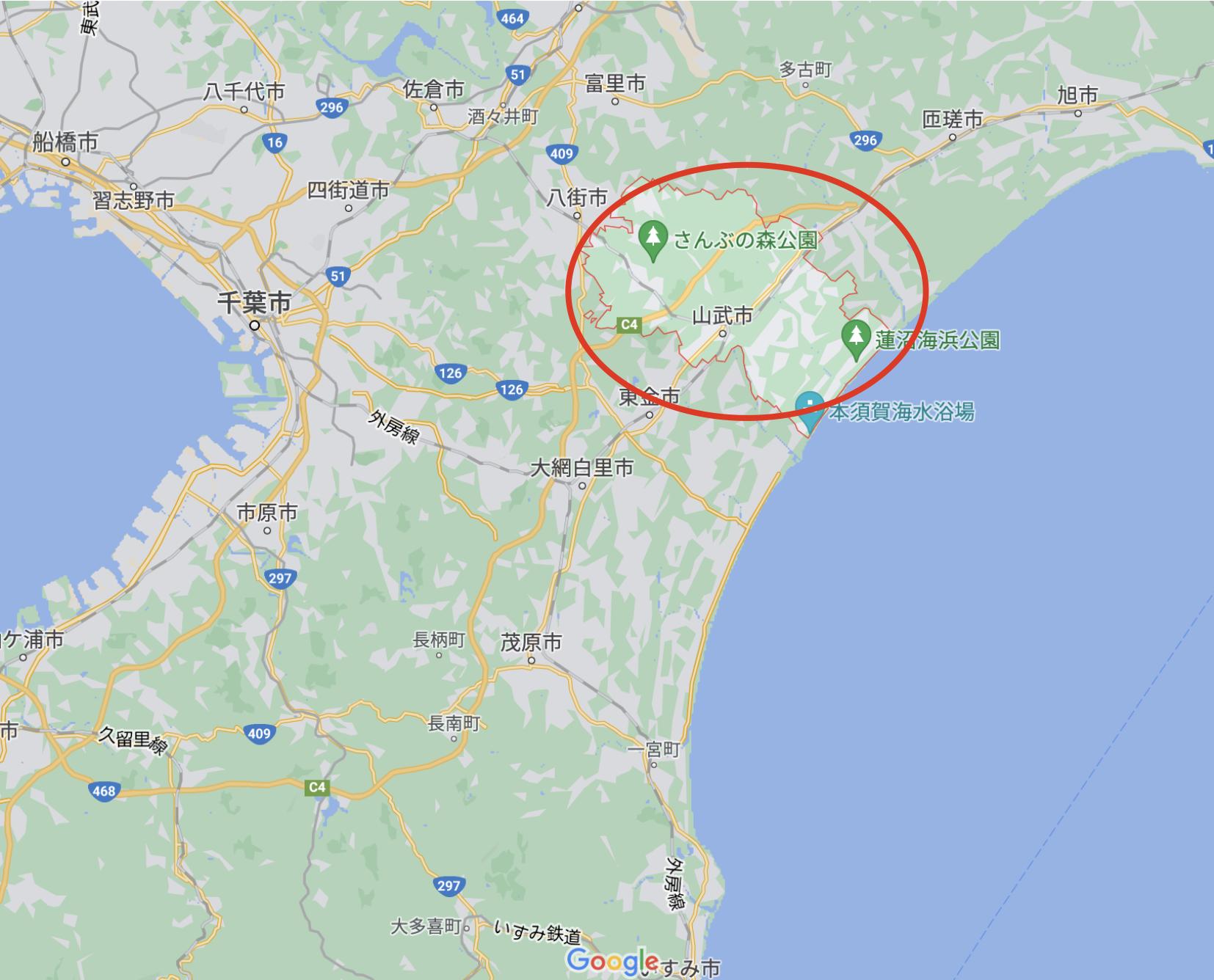 山武市の地図を掲載